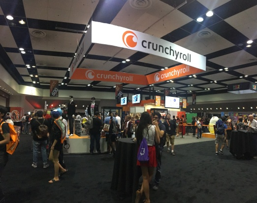The Premium exclusive section for Crunchyroll in the exhibit hall
